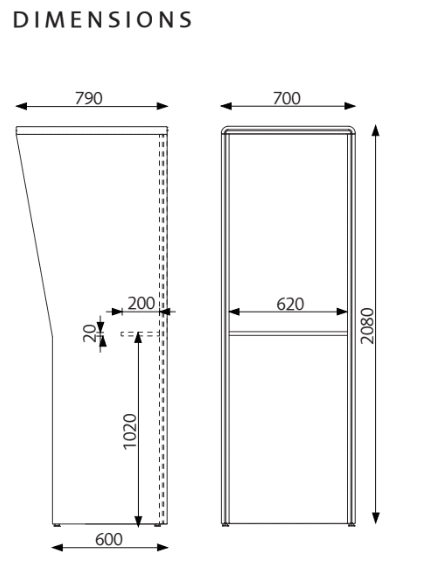 LimbusBooth dimensions